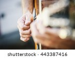 guitarist playing | Shutterstock . vector #443387416