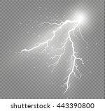 set of lightnings. thunder... | Shutterstock .eps vector #443390800