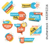 collection of sale discount... | Shutterstock .eps vector #443392216