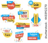 collection of sale discount ... | Shutterstock .eps vector #443392270