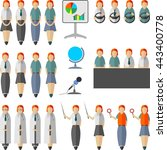 set of people in the flat style ... | Shutterstock .eps vector #443400778