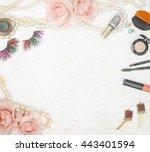feminine beauty background  ... | Shutterstock . vector #443401594