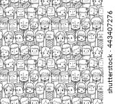 seamless people pattern | Shutterstock . vector #443407276