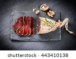 gourmet dinner concept with... | Shutterstock . vector #443410138