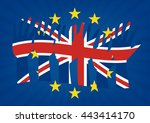 raise hands with flags of the... | Shutterstock .eps vector #443414170