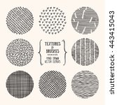 hand drawn textures and brushes.... | Shutterstock .eps vector #443415043