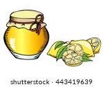 Lemons And Lemon Jam. Vector