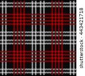 knitted plaid tartan pattern...   Shutterstock .eps vector #443421718