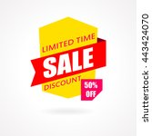 sale banner. discount and... | Shutterstock .eps vector #443424070