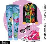illustration stylish and trendy ...   Shutterstock .eps vector #443424100