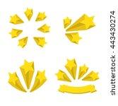 stars burst elements | Shutterstock .eps vector #443430274