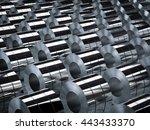 3d rendering roll of steel...   Shutterstock . vector #443433370