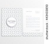 minimal brochure template design | Shutterstock .eps vector #443433850