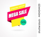 sale sign banner poster ready... | Shutterstock .eps vector #443434420
