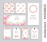 elegant cards and gift tags... | Shutterstock .eps vector #443438623