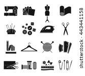 vector seamstress black and... | Shutterstock .eps vector #443441158