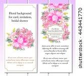 vintage delicate invitation... | Shutterstock .eps vector #443441770
