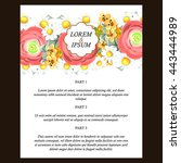 romantic invitation. wedding ... | Shutterstock .eps vector #443444989