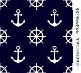 marine background in navy blue... | Shutterstock .eps vector #443446738