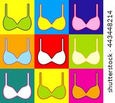 bra simple icon. pop art style...