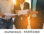 working | Shutterstock . vector #443451460