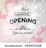 grand opening poster with... | Shutterstock .eps vector #443452168