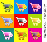 shopping cart remove from cart ... | Shutterstock . vector #443453029