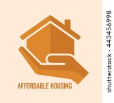 affordable housing icon. house... | Shutterstock .eps vector #443456998