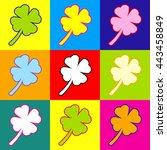 leaf clover sign. pop art style ...