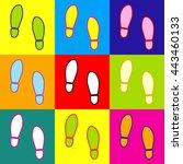 imprint soles shoes sign. pop...