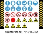 assembly point and first aid... | Shutterstock .eps vector #44346022