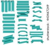 ribbon set | Shutterstock .eps vector #443467249
