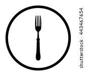 fork    black vector icon | Shutterstock .eps vector #443467654