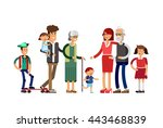 flat illustration multi... | Shutterstock .eps vector #443468839