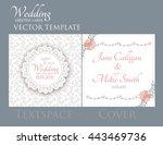 vintage wedding invitation... | Shutterstock .eps vector #443469736