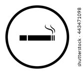 cigarette    black vector icon | Shutterstock .eps vector #443471098