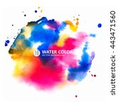 vector watercolor painting... | Shutterstock .eps vector #443471560