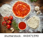 Pizza Dough With Ingredients...