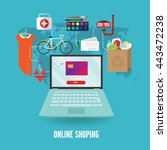 banner internet shopping. they... | Shutterstock .eps vector #443472238