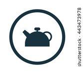 vector illustration of teapot...