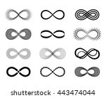 infinity symbol set | Shutterstock .eps vector #443474044