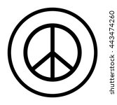 peace sign    black vector icon | Shutterstock .eps vector #443474260