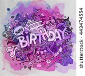 cartoon vector hand drawn... | Shutterstock .eps vector #443474554