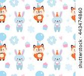 vector seamless pattern for the ... | Shutterstock .eps vector #443474860