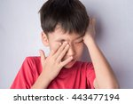 Little Boy Itchy His Eyes With...
