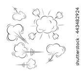 comic book explosion. explosion ...   Shutterstock .eps vector #443482924