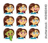 vector cartoon characters. girl ...