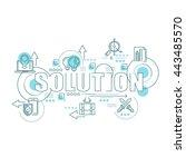 flat line design start for...   Shutterstock .eps vector #443485570