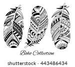 collection of hand drawn... | Shutterstock .eps vector #443486434