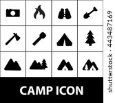 camp icon. camp sign | Shutterstock .eps vector #443487169